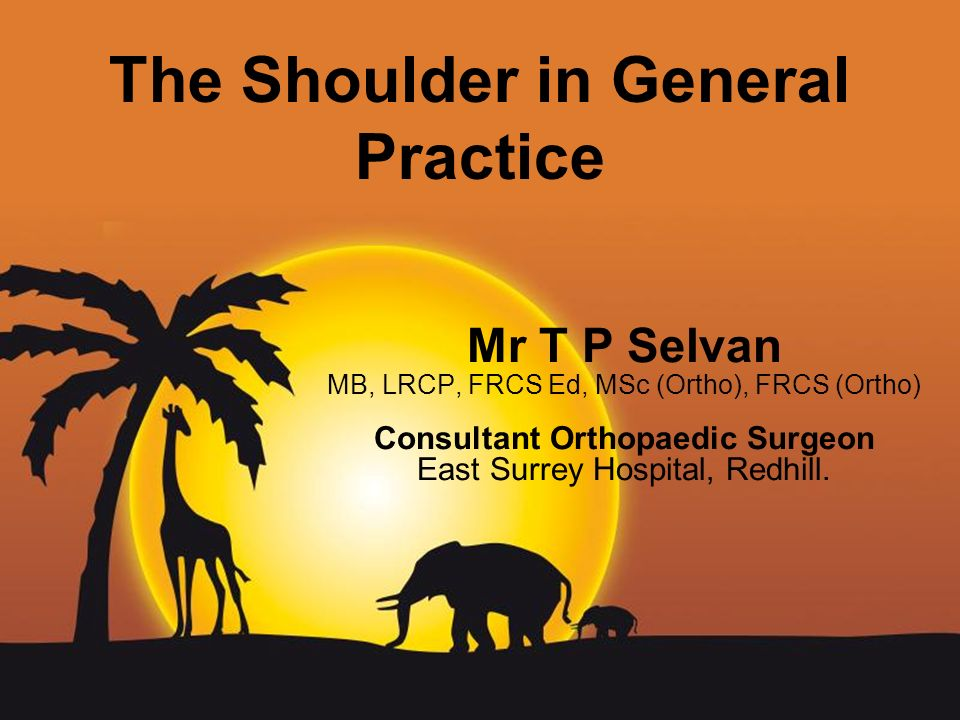 The Shoulder in General Practice