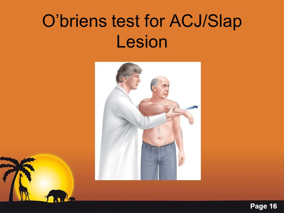 O'briens test for ACJ/Slap Lesion