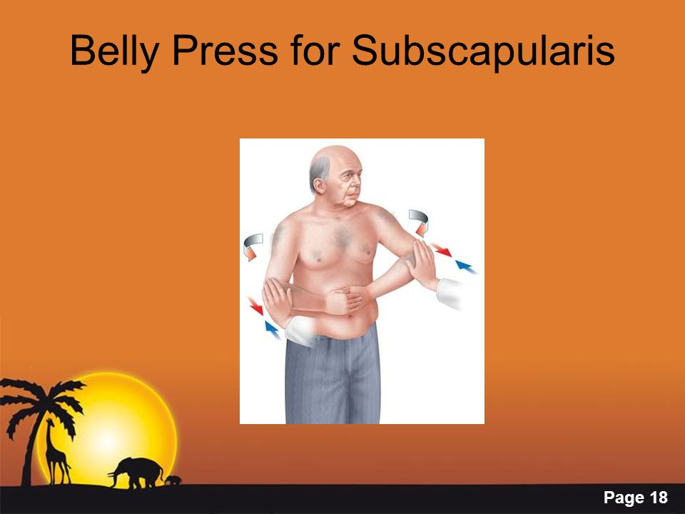 Belly Press for Subscapularis