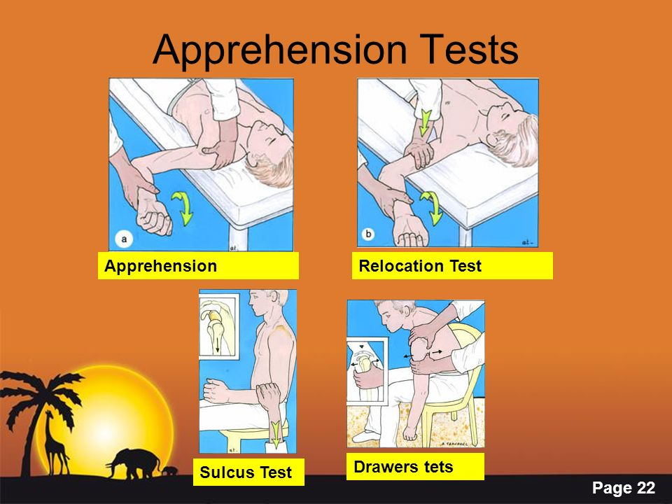 Apprehension Tests Apprehension Relocation Test Drawers tets