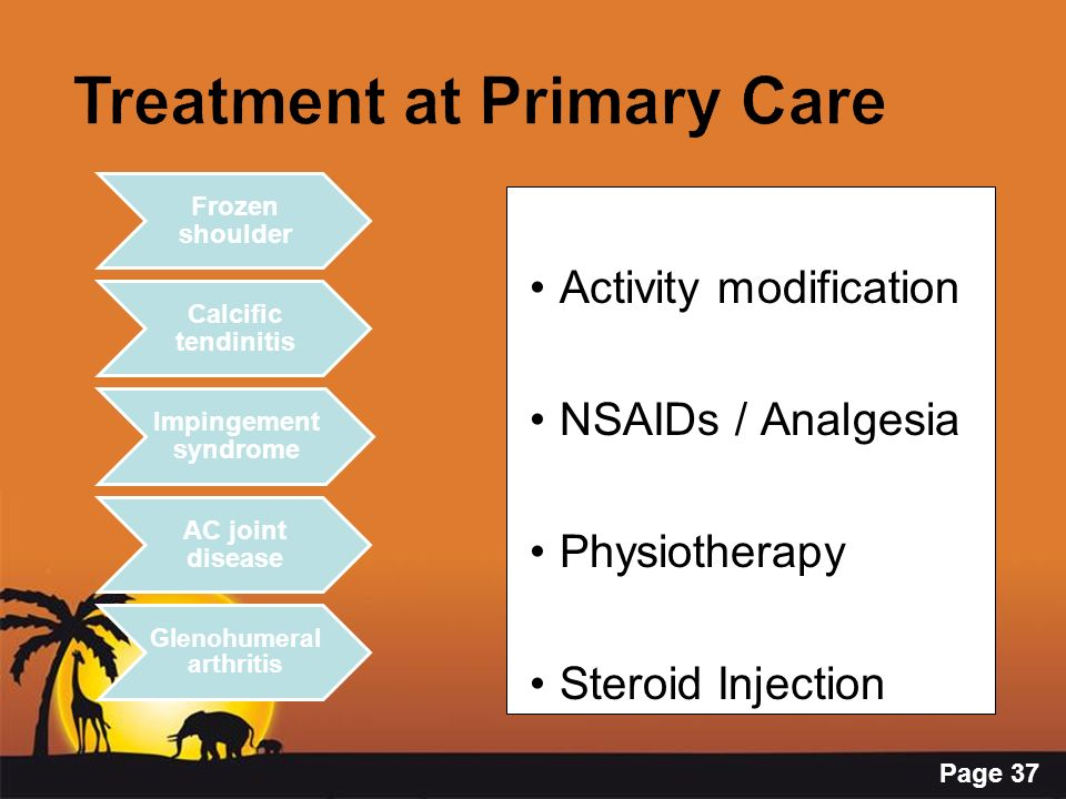 Treatment at Primary Care