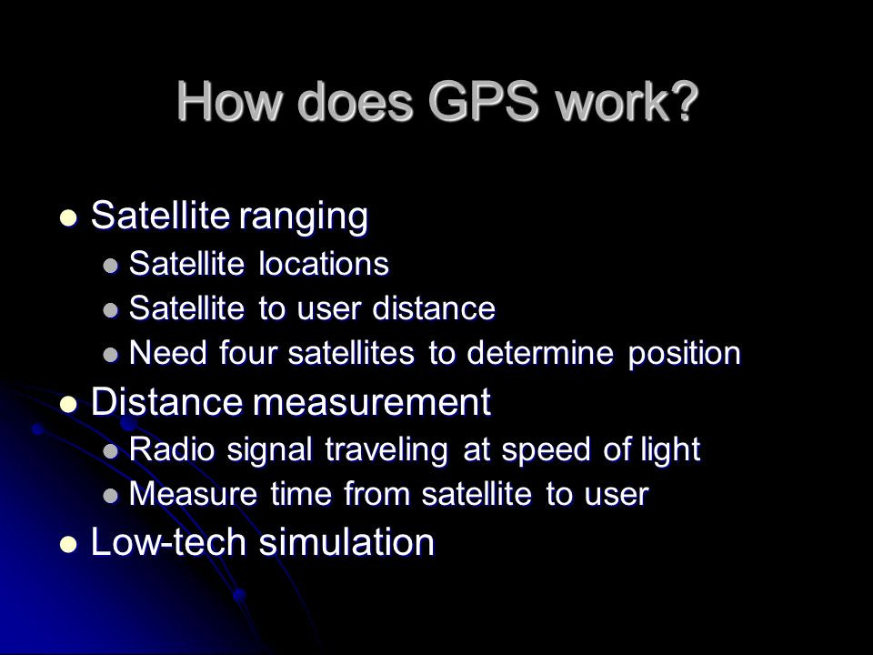 How does GPS work Satellite ranging Distance measurement