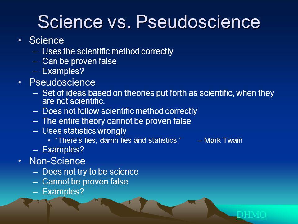 Science vs. Pseudoscience