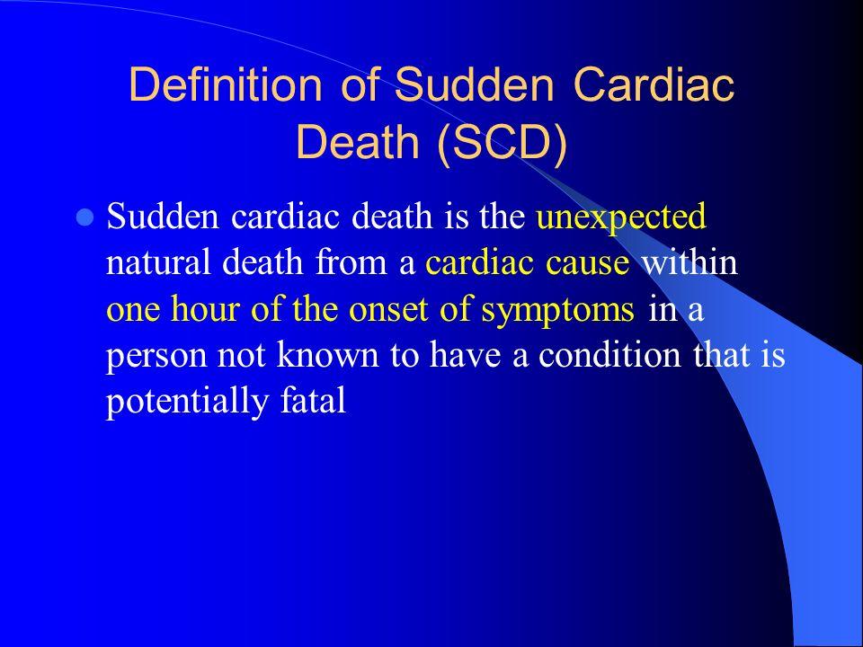 Definition of Sudden Cardiac Death (SCD)