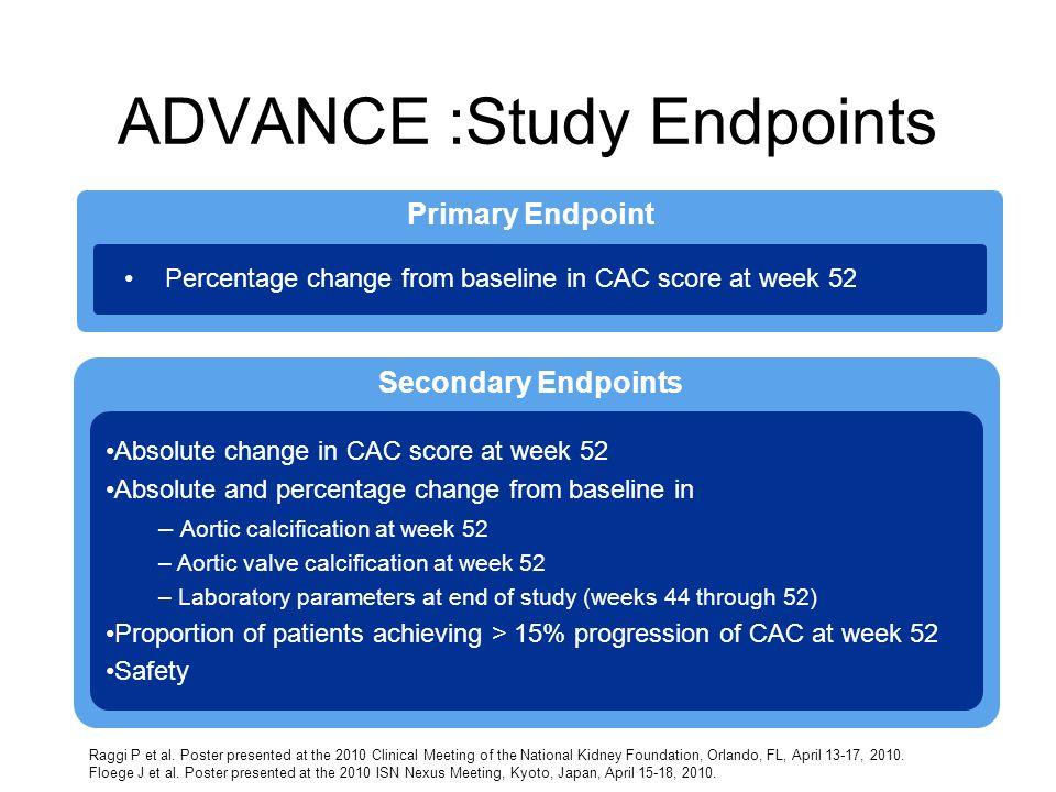 ADVANCE :Study Endpoints