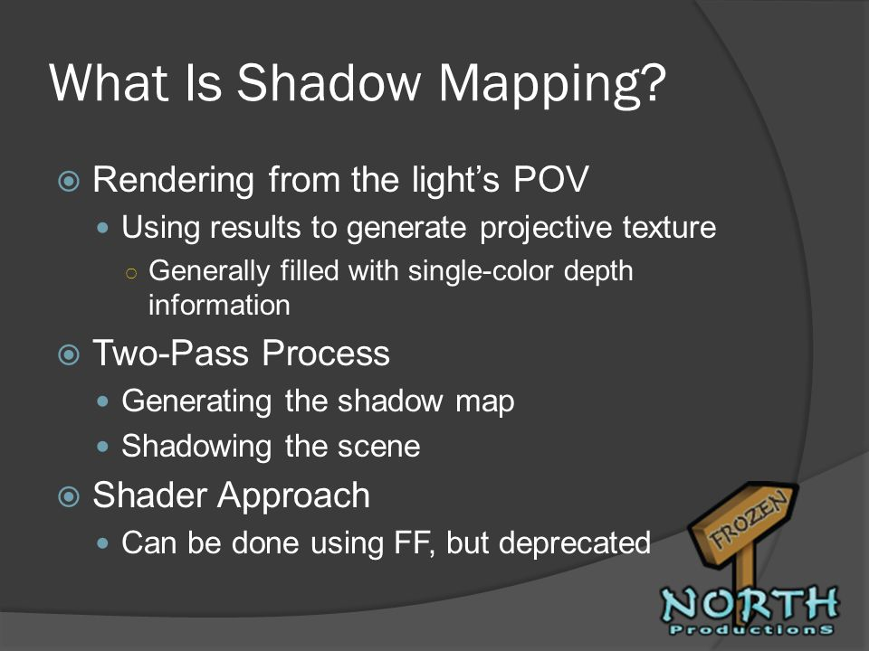 What Is Shadow Mapping Rendering from the light's POV