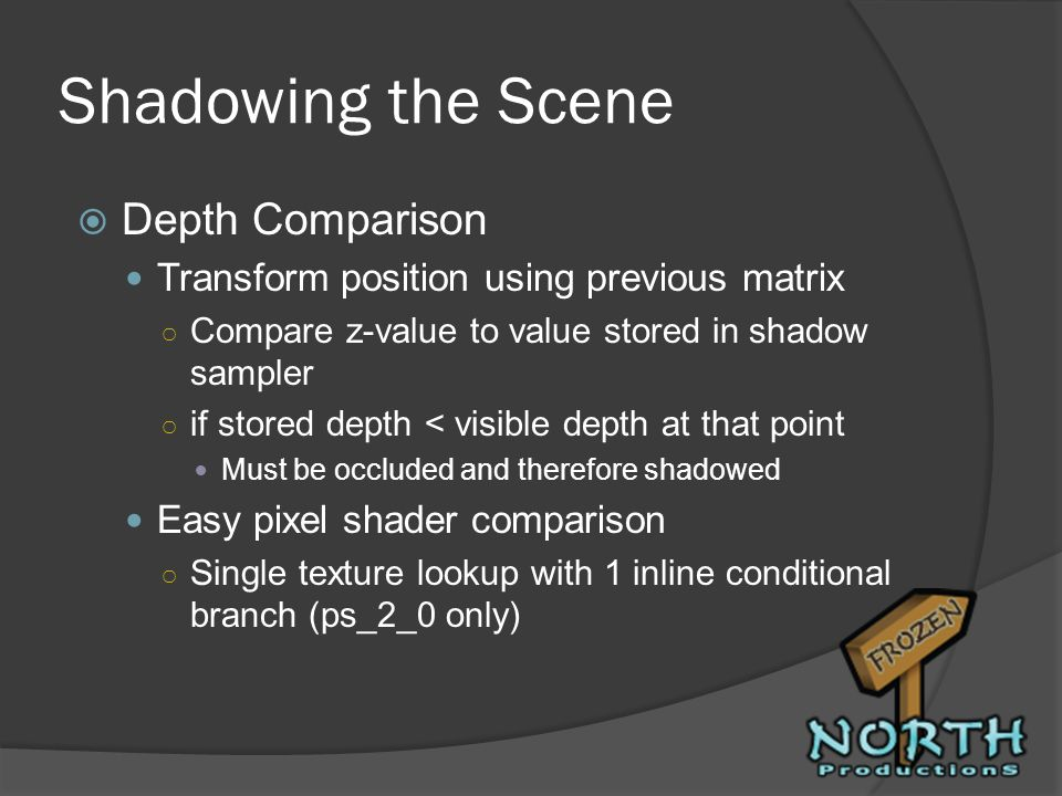 Shadowing the Scene Depth Comparison