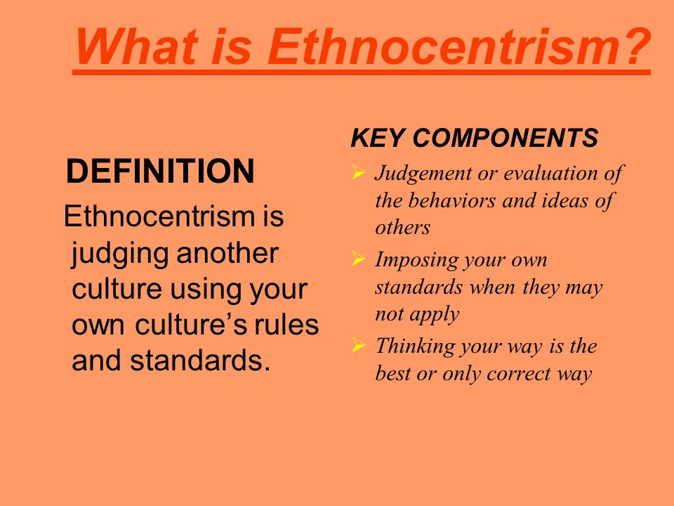 What is Ethnocentrism DEFINITION