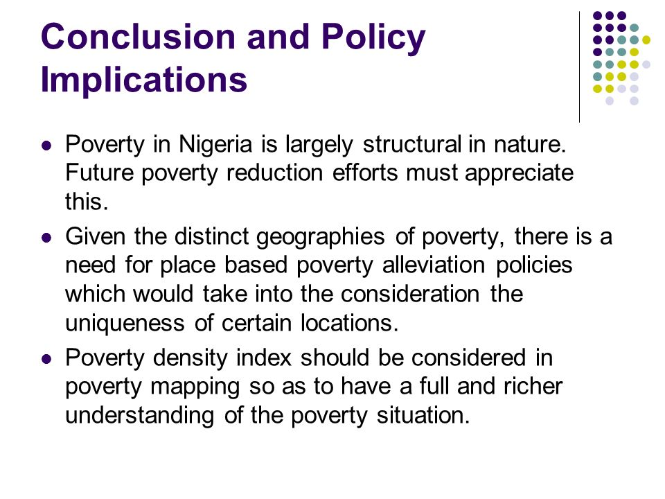 Conclusion and Policy Implications