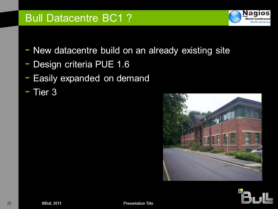 Bull Datacentre BC1 New datacentre build on an already existing site