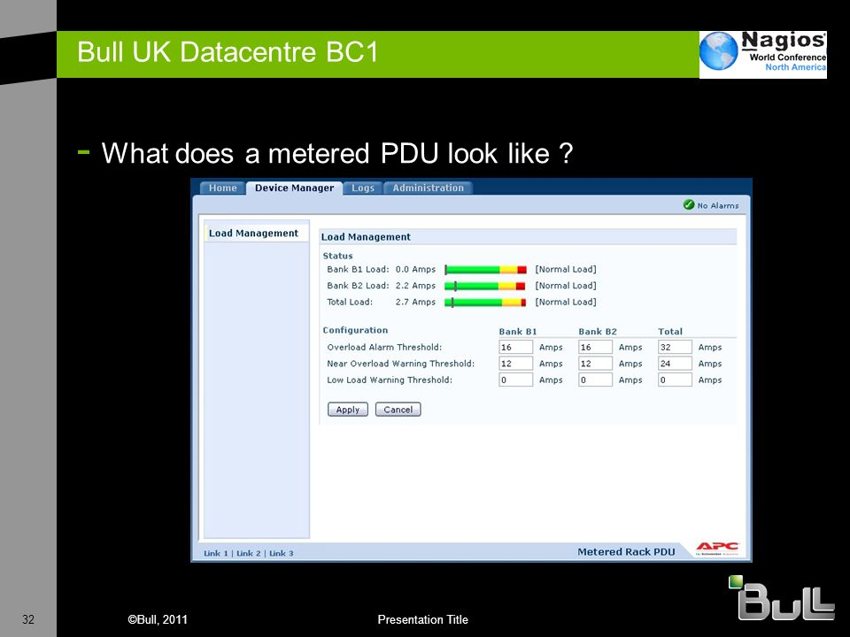 Bull UK Datacentre BC1 What does a metered PDU look like