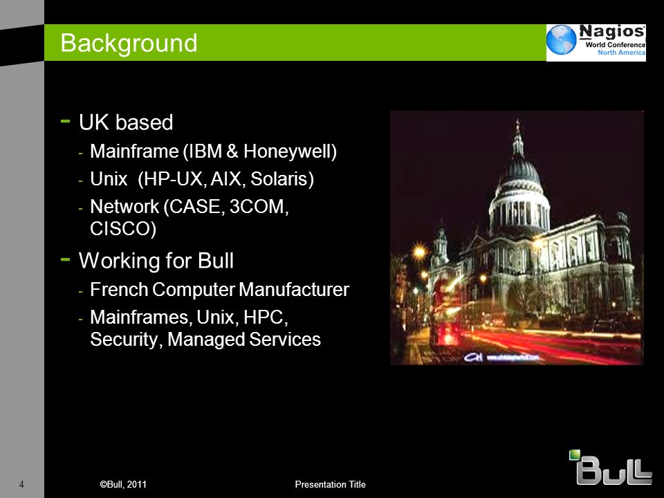 Background UK based Working for Bull Mainframe (IBM & Honeywell)