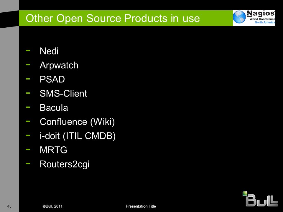 Other Open Source Products in use