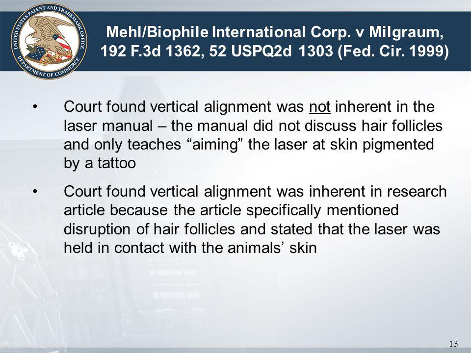 Mehl/Biophile International Corp. v Milgraum, 192 F