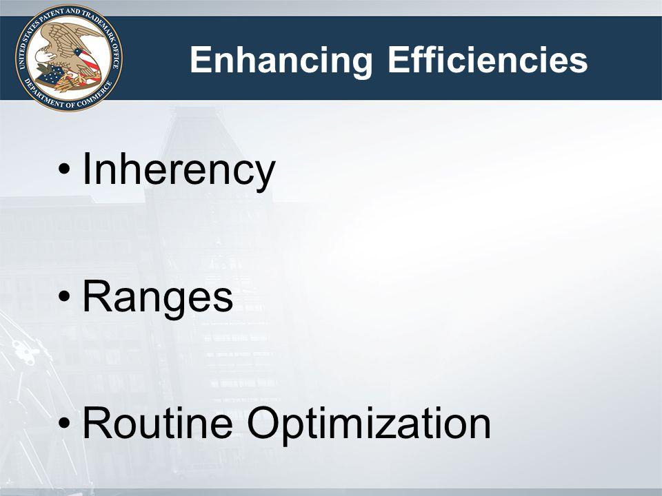 Enhancing Efficiencies