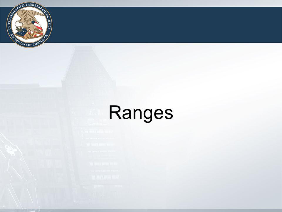 Ranges