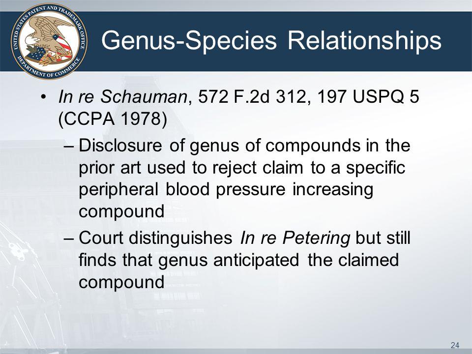 Genus-Species Relationships