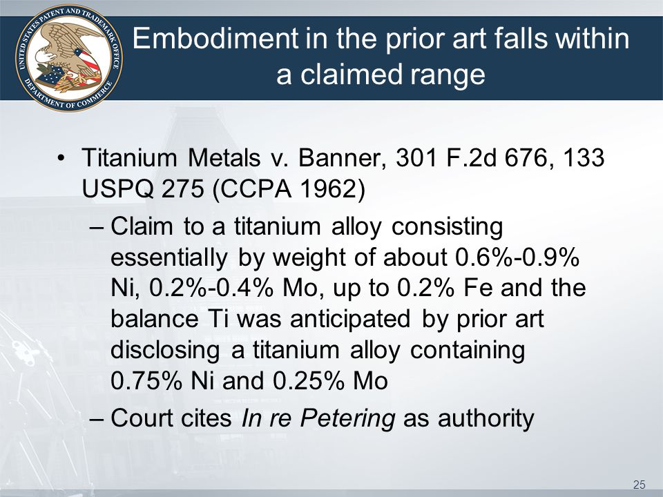 Embodiment in the prior art falls within a claimed range