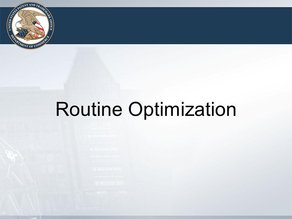 Routine Optimization
