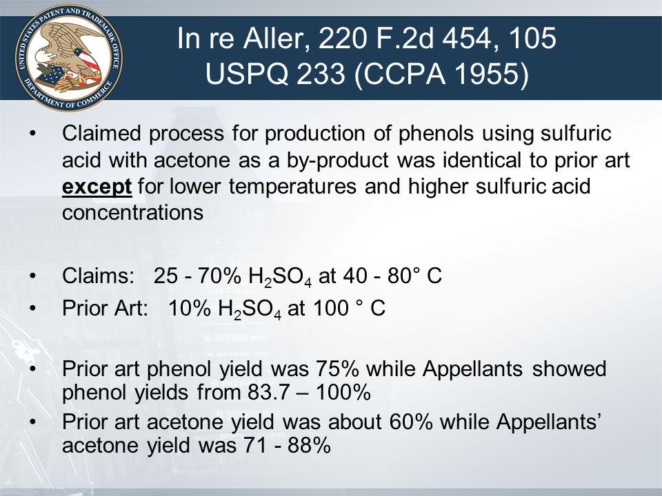 In re Aller, 220 F.2d 454, 105 USPQ 233 (CCPA 1955)