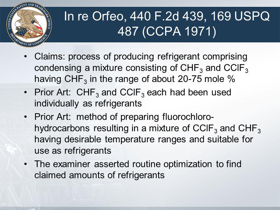 In re Orfeo, 440 F.2d 439, 169 USPQ 487 (CCPA 1971)