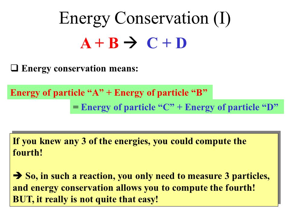 Energy Conservation (I)