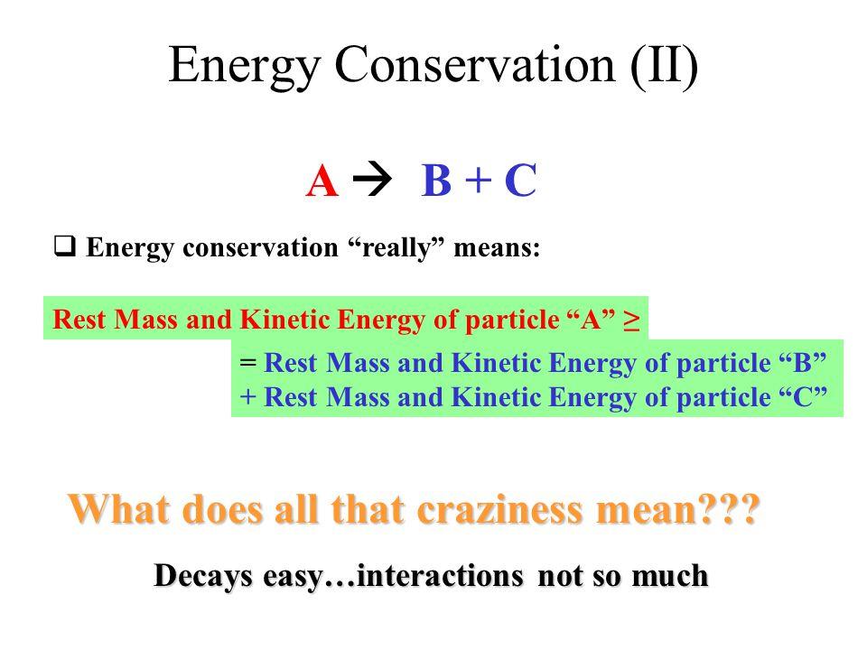 Energy Conservation (II)