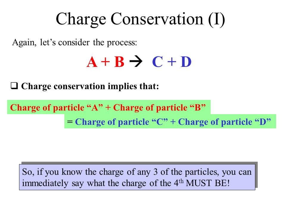 Charge Conservation (I)