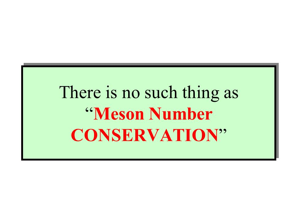There is no such thing as Meson Number CONSERVATION