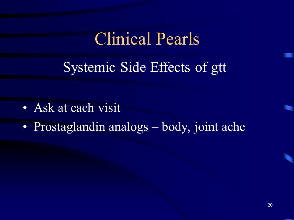 Systemic Side Effects of gtt