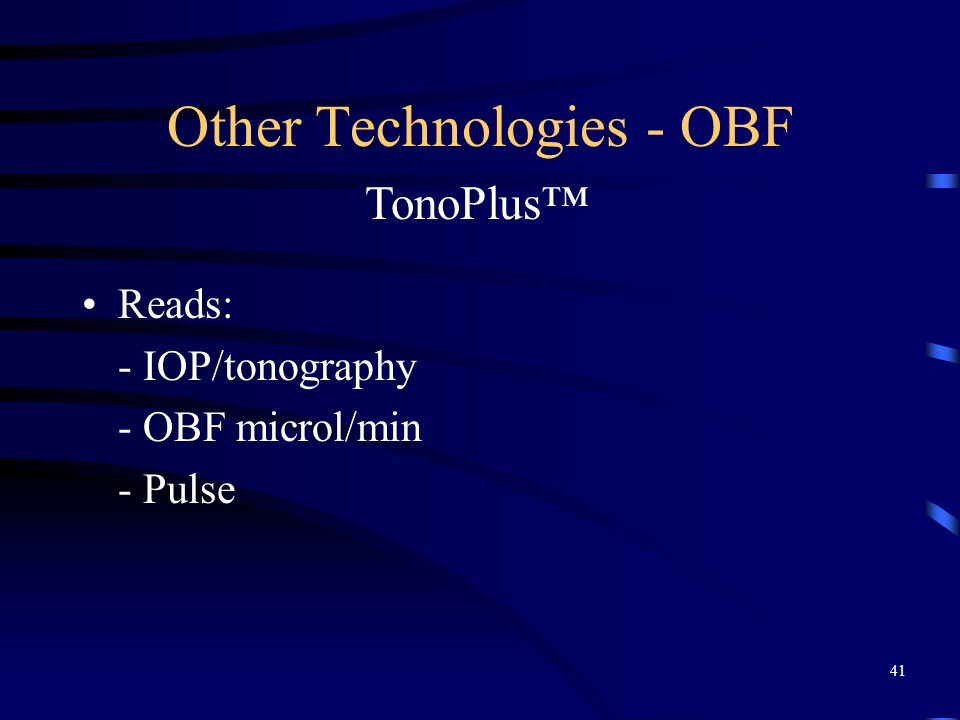 Other Technologies - OBF
