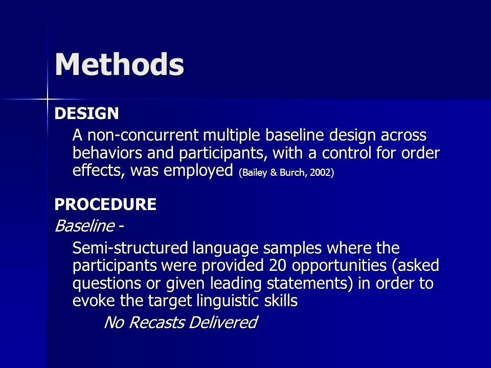 Methods DESIGN.
