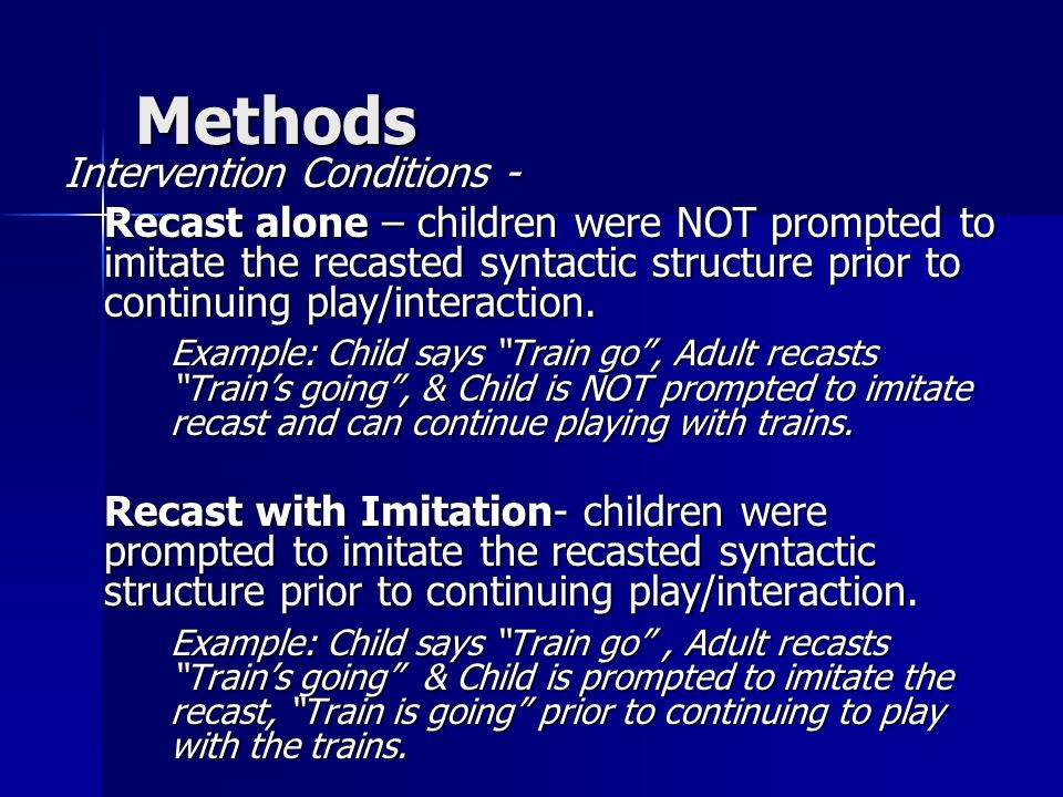 Methods Intervention Conditions -
