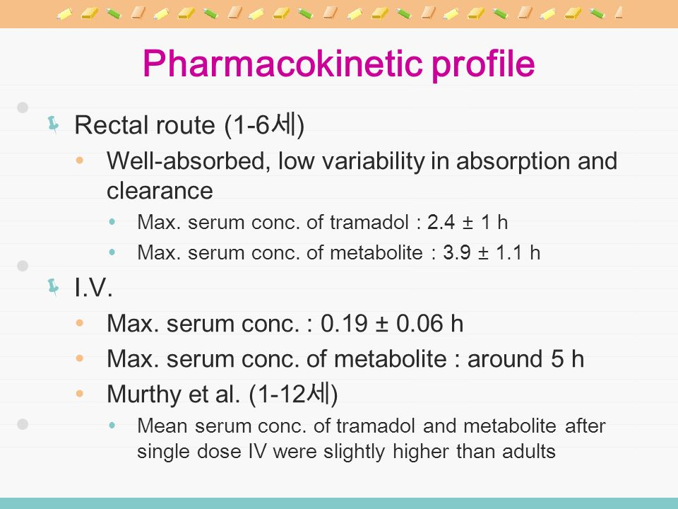 Pharmacokinetic profile