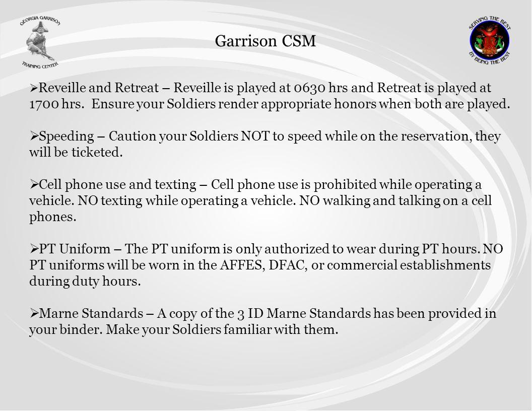 Garrison CSM