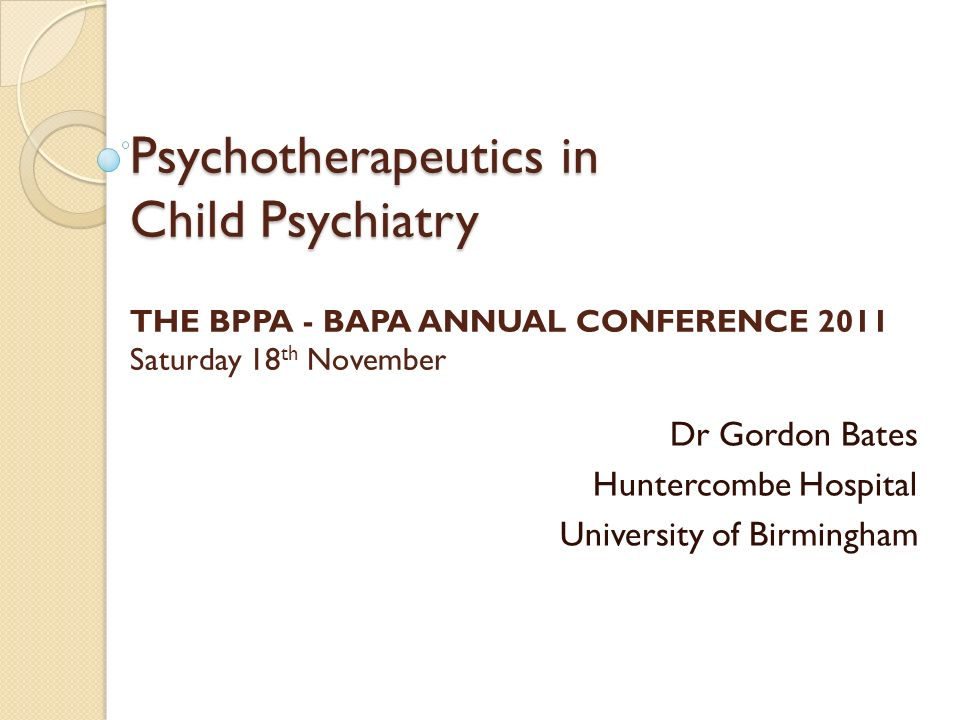 Dr Gordon Bates Huntercombe Hospital University of Birmingham