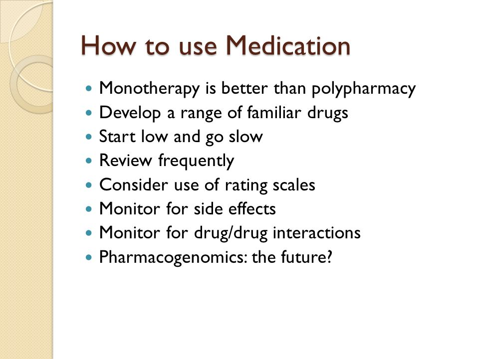 How to use Medication Monotherapy is better than polypharmacy