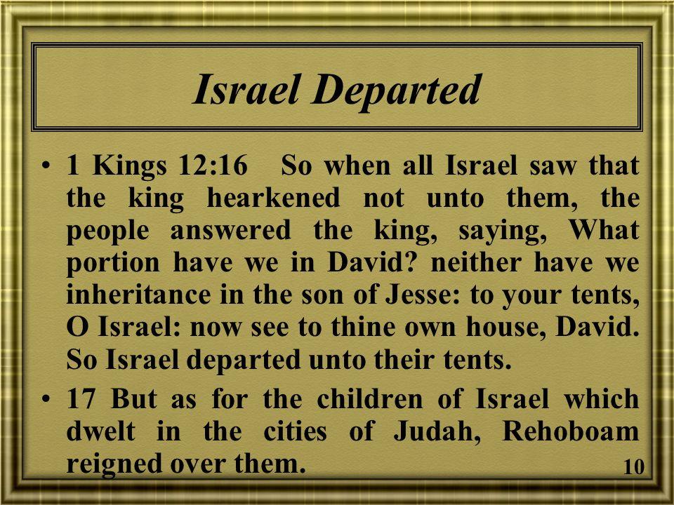 Israel Departed