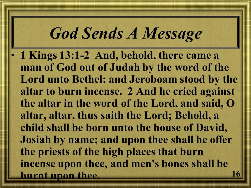 God Sends A Message
