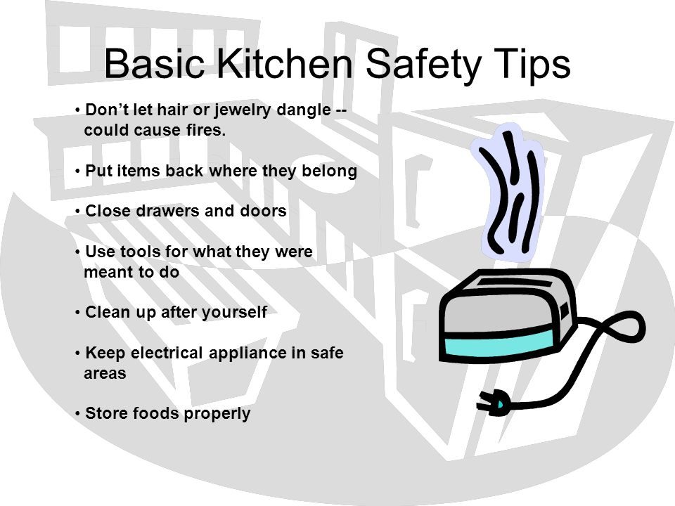 Basic Kitchen Safety Tips