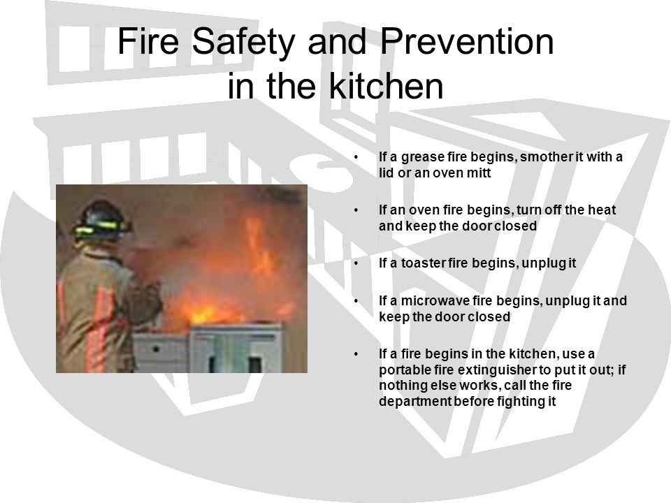 Fire Safety and Prevention in the kitchen