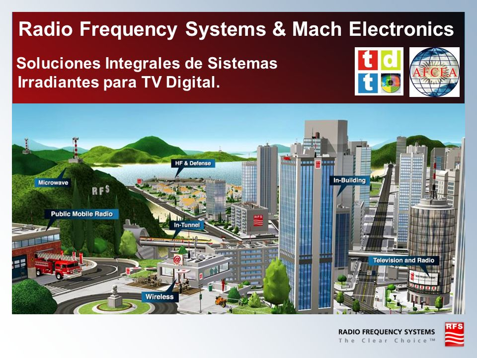 Radio Frequency Systems & Mach Electronics Soluciones Integrales de Sistemas Irradiantes para TV Digital.
