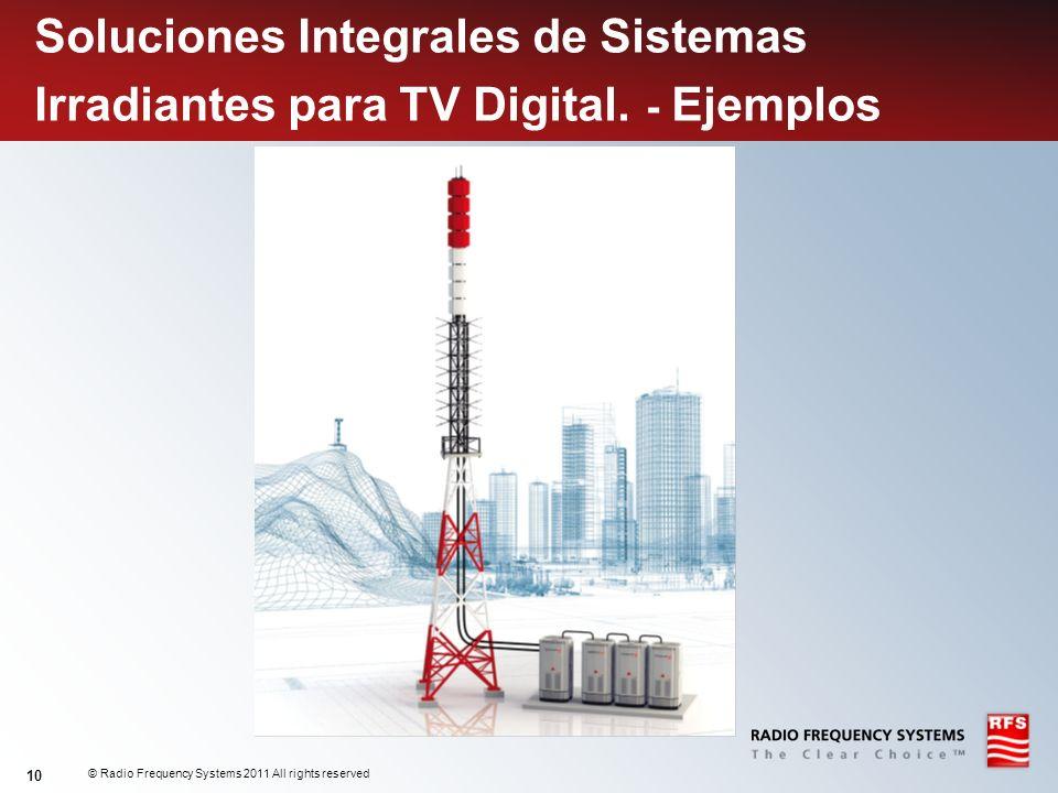 Soluciones Integrales de Sistemas Irradiantes para TV Digital