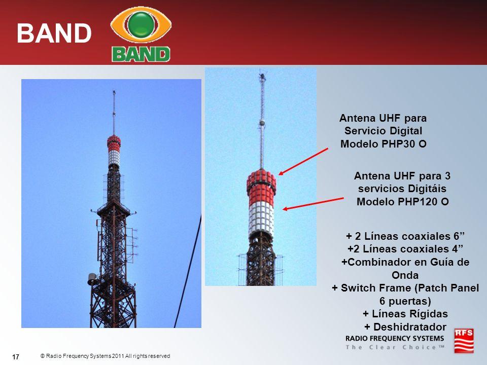 BAND Antena UHF para Servicio Digital Modelo PHP30 O