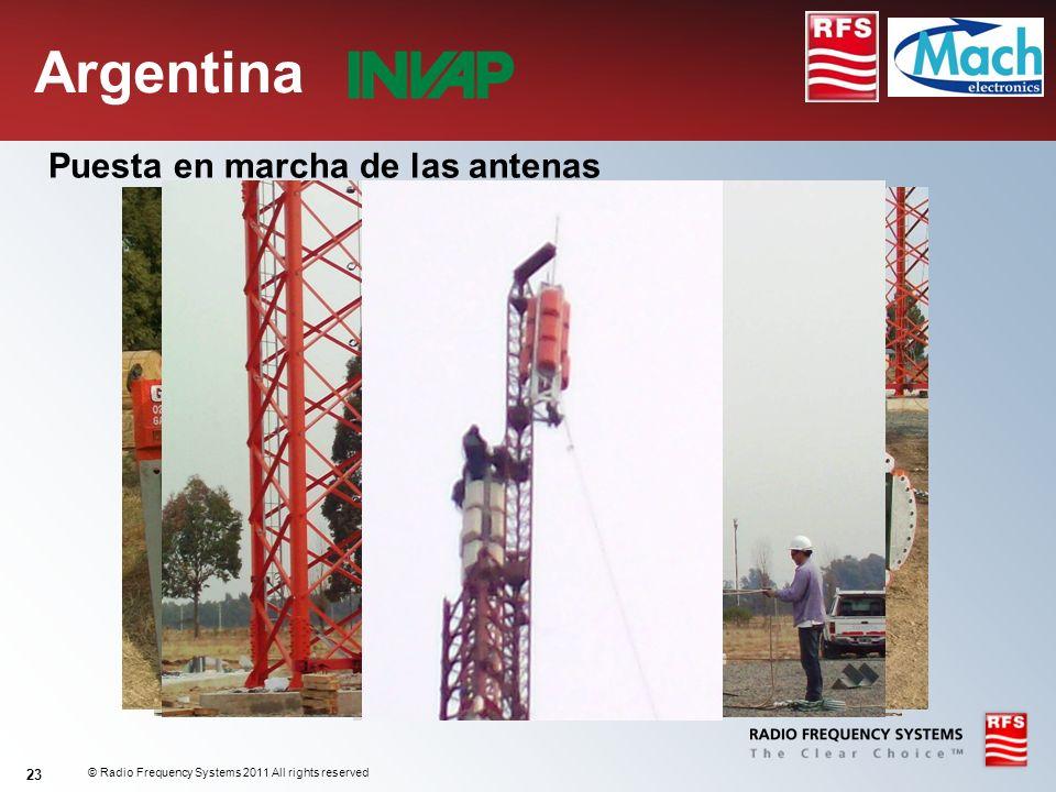 Argentina Puesta en marcha de las antenas