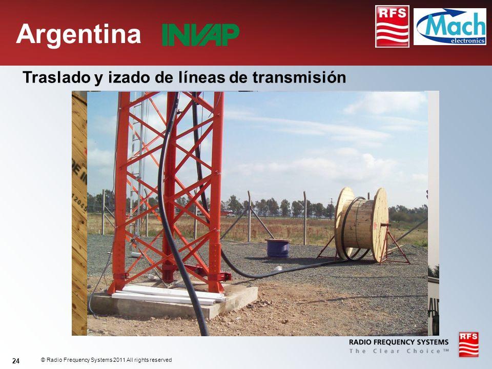 Argentina Traslado y izado de líneas de transmisión