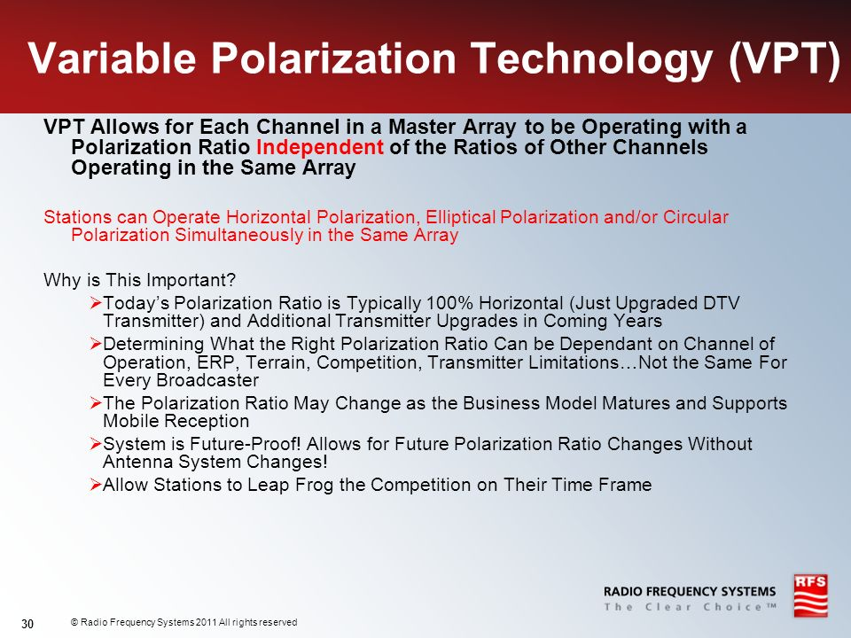 Variable Polarization Technology (VPT)