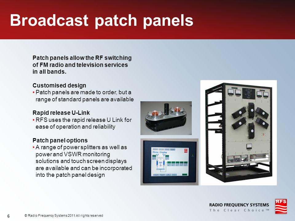 Broadcast patch panels