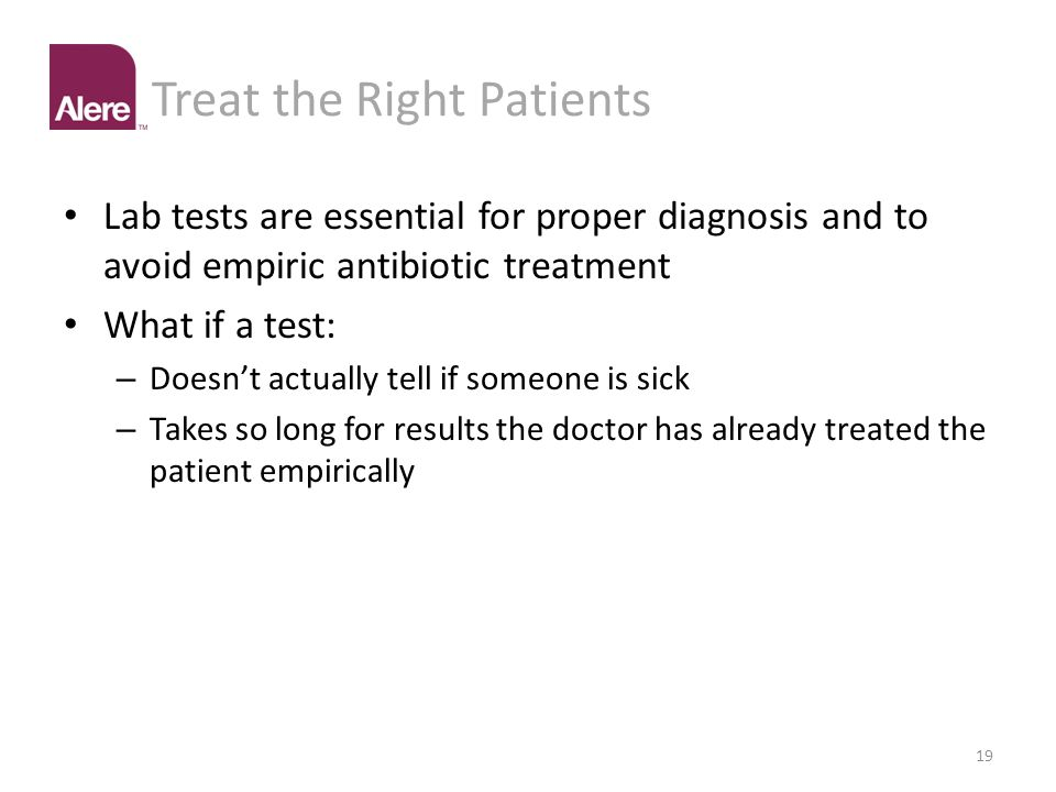 Treat the Right Patients