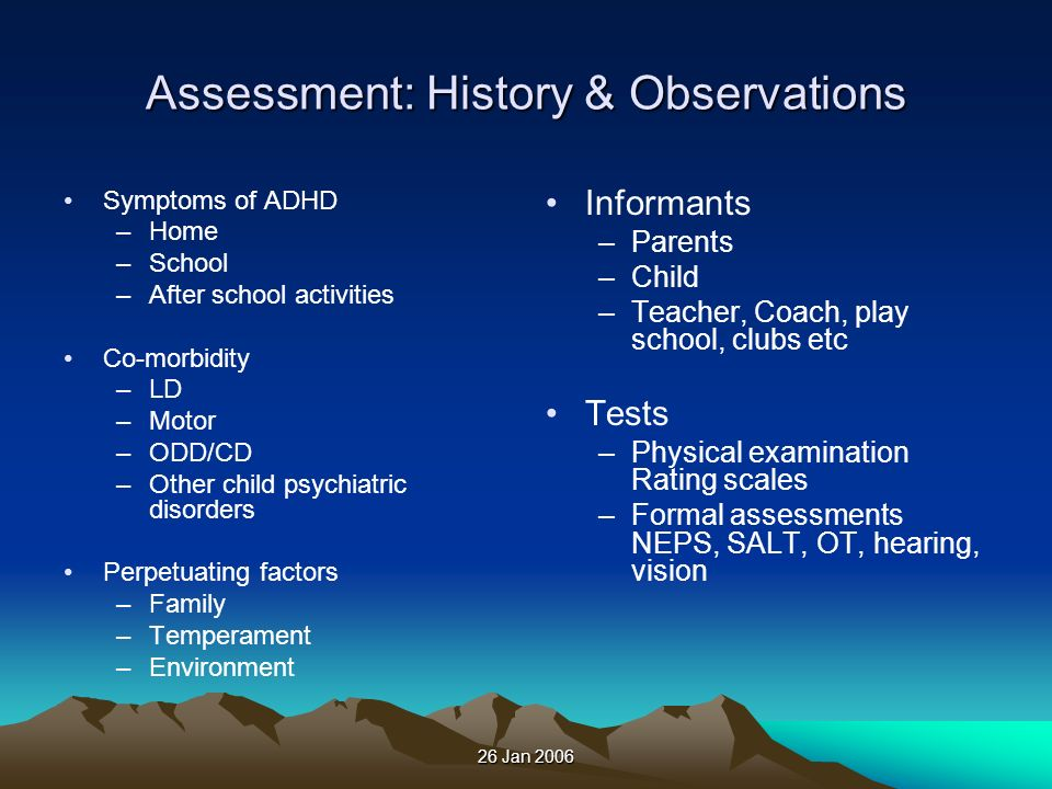 Assessment: History & Observations